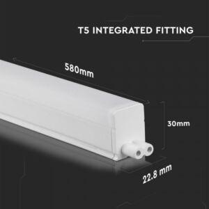 7W T5 60cm LED Komplett lámpatest Samsung chip 6400K - PRO694