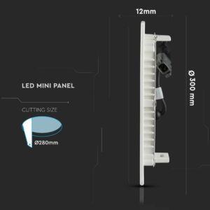 24W Kör Premium LED Panel süllyeszthető 6400K - PRO726