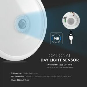 12W Mozgásérzékelős mennyezeti lámpa Samsung chip 3000K - PRO807